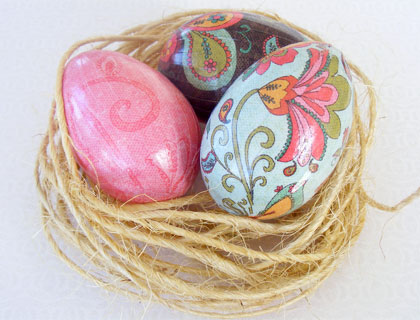 Paisley Easter eggs by Peppery