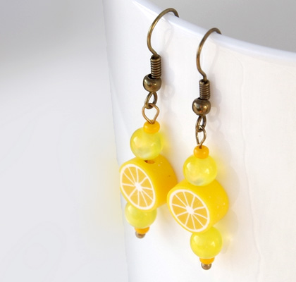 Lemon earrings by Fruit Look