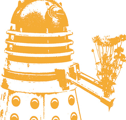 "Hand Screen Printed ""I Love You My Dalek!"" Tea Towel By Plum Jam"