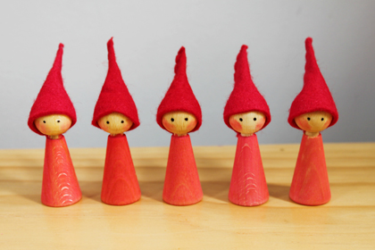 red christmas gnomes