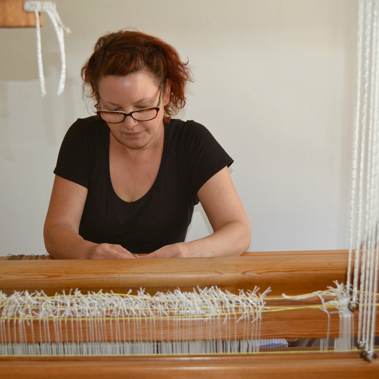 Fearless weaver: exploring environments and crossing the globe with a loom
