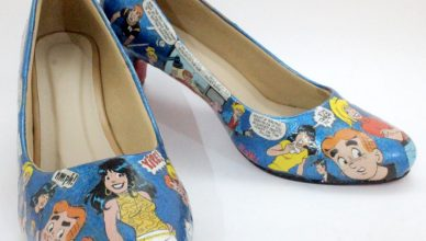 Decoupage pumps by Shailee