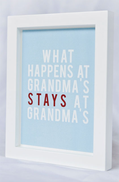 Framed Grandma Quote Wall Art by Smartiepants