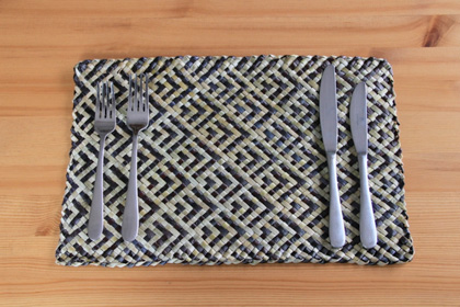 Flax placemats by Souly Fibre