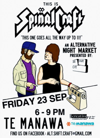 This is Spinal Craft! 6–9pm Friday 23 September, Palmerston North