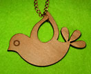 i see you bird pendant in rimu
