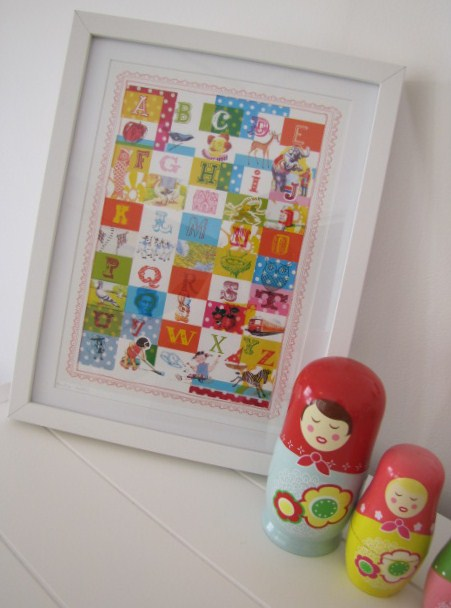 Vintage Alphabet Print by Sweet William