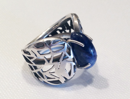 Misty Blue Sterling Silver Ring by Swoop