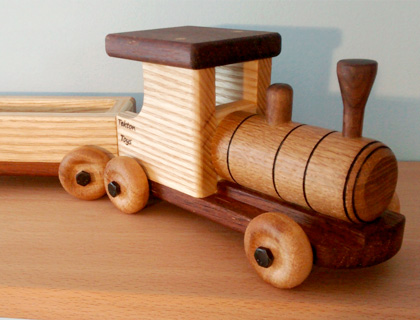 Traditional Wooden Train Set by Tekton Toys