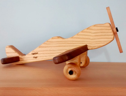 Traditional Wooden Spitfire Plane by Tekton Toys