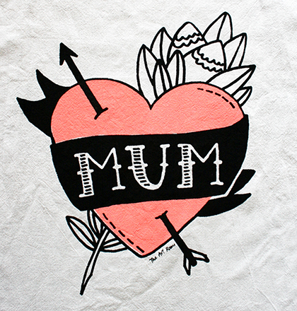 theartroom mum teatowel