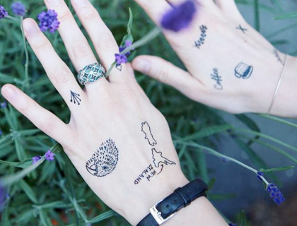 Little temporary tattoo collection by Tiny Skin Scribbles