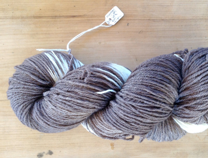 Naturally Dyed Sock Wool - Chocolate and Cream by Truby Wool