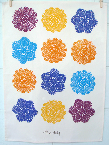 Doily Tea Towel by Wash House