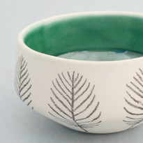 Miniature sketch bowl by Wigleyware
