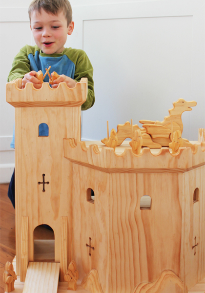 woodbotherer natural wooden play castle