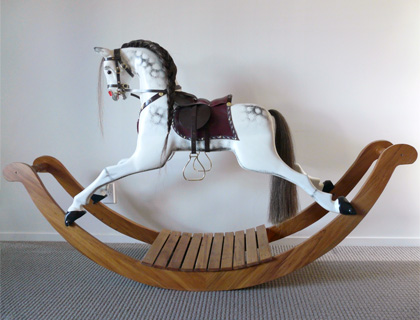 Traditional Carved Victorian Style Rocking Horse by Woodcarver