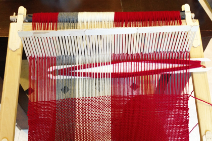 Wrapt Weaving my first home made loom