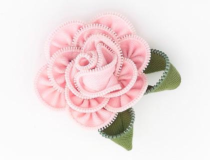 Vintage Soft Pink Rose Brooch by Zippitydoodah