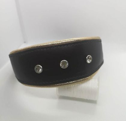 Hand-Made Leather Inset Decoration Italian Greyhound Collar