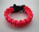 Paracord Bracelet - Flouro Pink/Orange