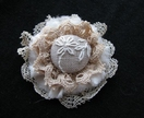 "Shabby Chic Brooch - ""Mary"""
