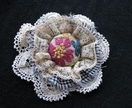 "Shabby Chic Brooch - ""Kitty"""