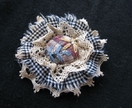 "Shabby Chic Brooch - ""Harriet"""