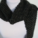 Handknitted Scarf - Black/Green