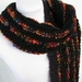 Handknitted Scarf - Black/Multi Stripe