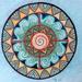 Four Elements Mandala in Watercolor