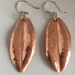 Copper NZ  hebe leaf earrings
