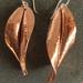 Spiral twist copper earrings