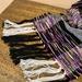 Liquorice Swirl - hand woven wool scarf