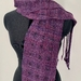 Plum handwoven scarf handspun