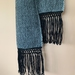 Black lace Handwoven scarf