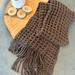 Chocolate Waffle scarf - hand woven