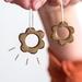 Flower Drop Earrings 〰️ Speckled Walnut