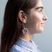 Flower Drop Earrings 〰️ Lilac