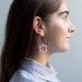 Flower Drop Earrings 〰️ Pink