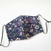Cotton Face mask with filter pocket (Flower)