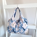 Daily Tote Bag (Flower Bloom Smokyblue)