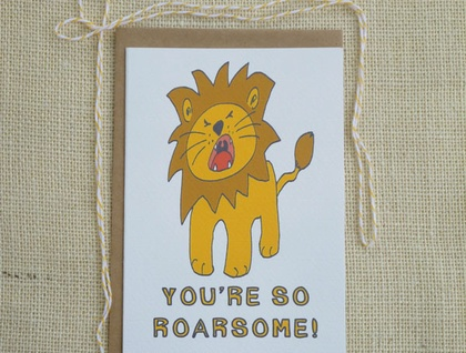 You're Roarsome card