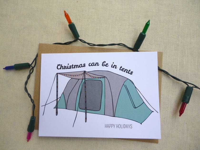 In tents Christmas card