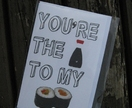 """You're the soy to my sushi"" Greeting card."