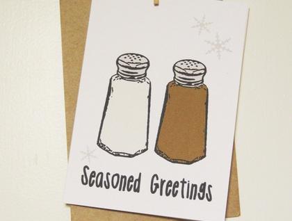 """Seasoned Greetings"" Christmas card"