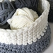 Ombre handmade crochet basket from recycled t-shirt yarn