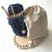 Beginner Crochet Kit - All you need to create a stylish T-Shirt Yarn Basket (10cm diameter)