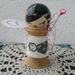Kokeshi Spool Doll - 'French Inspired Doll-Ribbon'