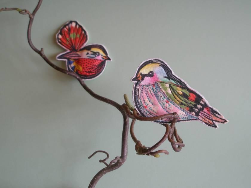 Birds of a Feather.......Bird Brooch